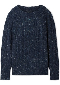 J.Crew Scotty Marled Cable-knit Sweater
