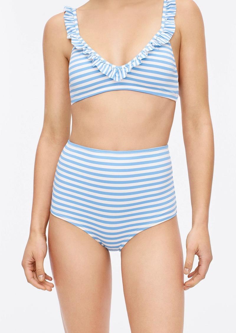 J.Crew Seamless high-waisted bikini bottom in stripe
