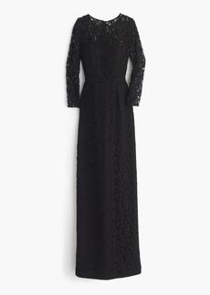 J.Crew Selina long dress in Leavers lace