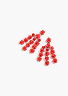 J.Crew Sequin-daisy chandelier earrings