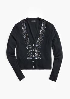 J.Crew Sequin embellished V-neck cardigan sweater