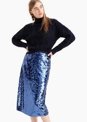 J.Crew Sequin midi skirt with tie