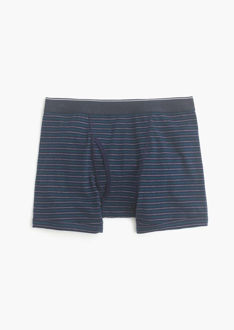 J.Crew Shadow-striped knit boxer briefs