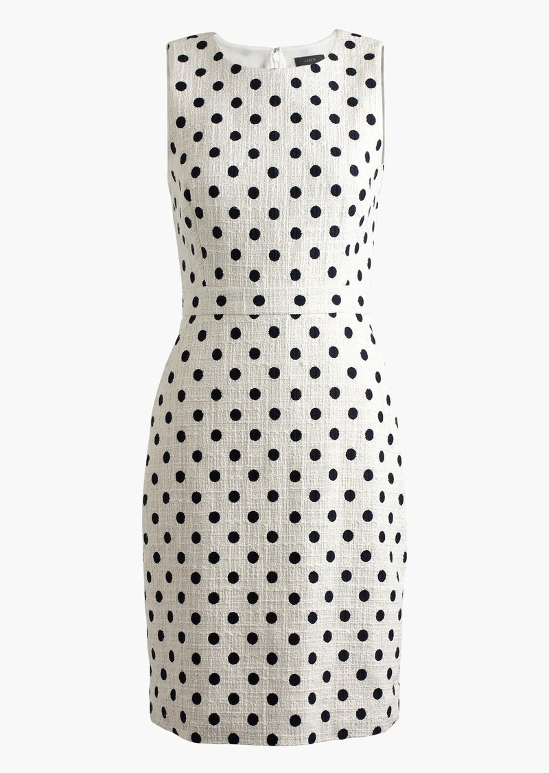 J.Crew Sheath dress in polka dot textured tweed