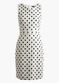 Sheath dress in polka dot textured tweed