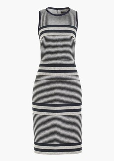 Sheath dress in striped navy tweed