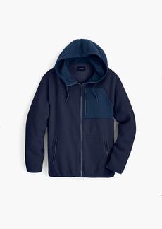 J.Crew Sherpa zip-front hooded jacket