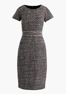Shift dress in multicolored tweed