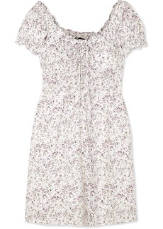 J.Crew Shirred Floral-print Voile Mini Dress