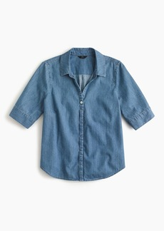 J.Crew Short-sleeve button-up shirt in chambray