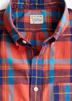 J.Crew Short-sleeve Indian madras shirt in coral plaid
