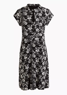 J.Crew Short-sleeve keyhole dress in floral
