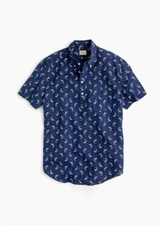 J.Crew Short-sleeve popover in paisley print cotton-linen