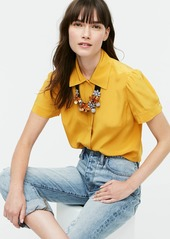J.Crew Short sleeve shirt in Re-Imagined Silk