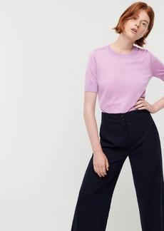 J.Crew Short-sleeve silk TENCEL™ crewneck sweater