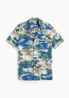J.Crew Short-sleeve slub cotton shirt in island print