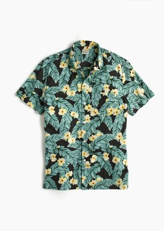 J.Crew Short-sleeve slub cotton shirt in jungle print
