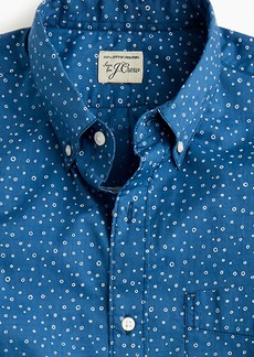 J.Crew Short-sleeve slub cotton shirt in sketched dot print