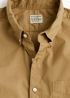 J.Crew Short-sleeve stretch garment-dyed Secret Wash shirt