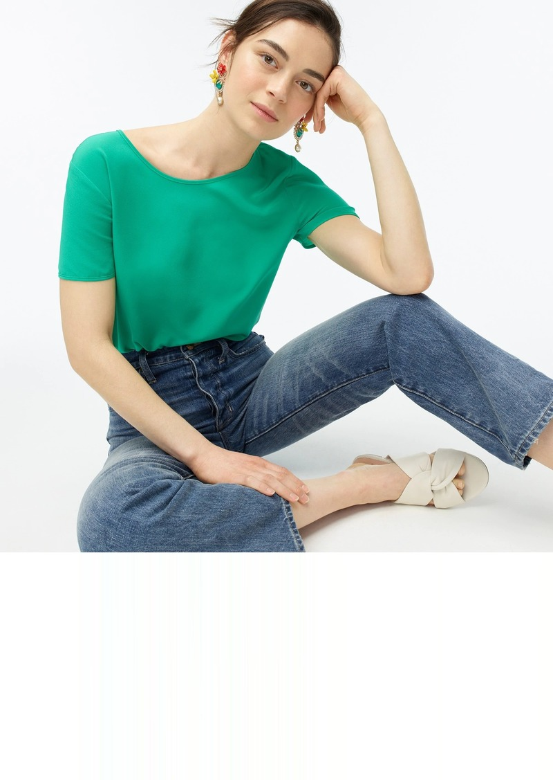 J.Crew Short-sleeve tee in Re-Imagined Silk