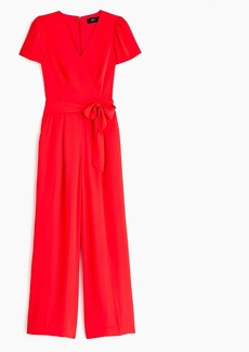 J.Crew Short-sleeve wrap jumpsuit
