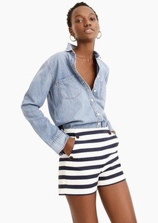 J.Crew Side-button sailor short in stretch grasscloth