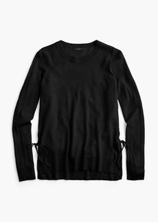 J.Crew Side-slit sweater with ties
