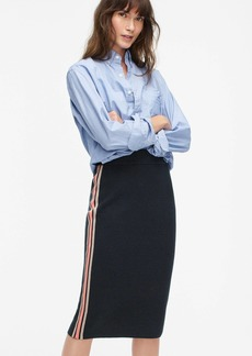 J.Crew Side-stripe sweater pencil skirt
