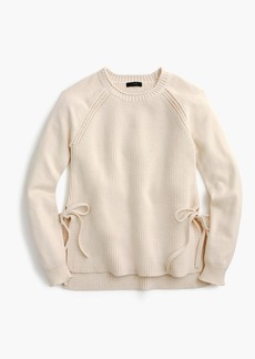 J.Crew Side-tie crewneck sweater