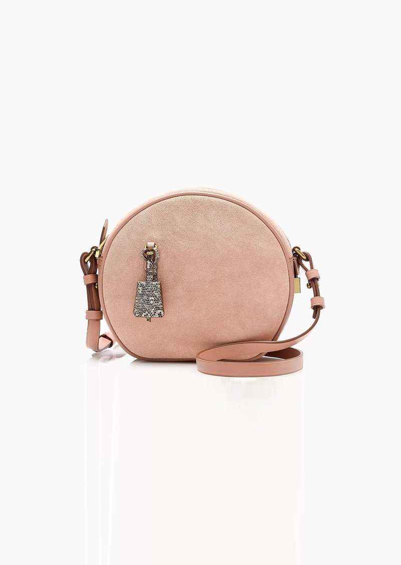 J.Crew Signet circle bag in suede