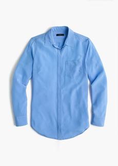 J.Crew Tall silk button-up shirt