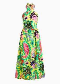 J.Crew Silk maxi sarong dress in paisley