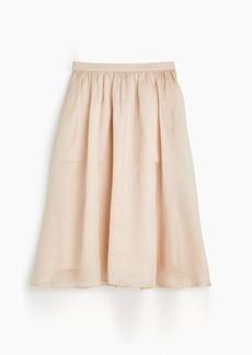 Silk organza skirt