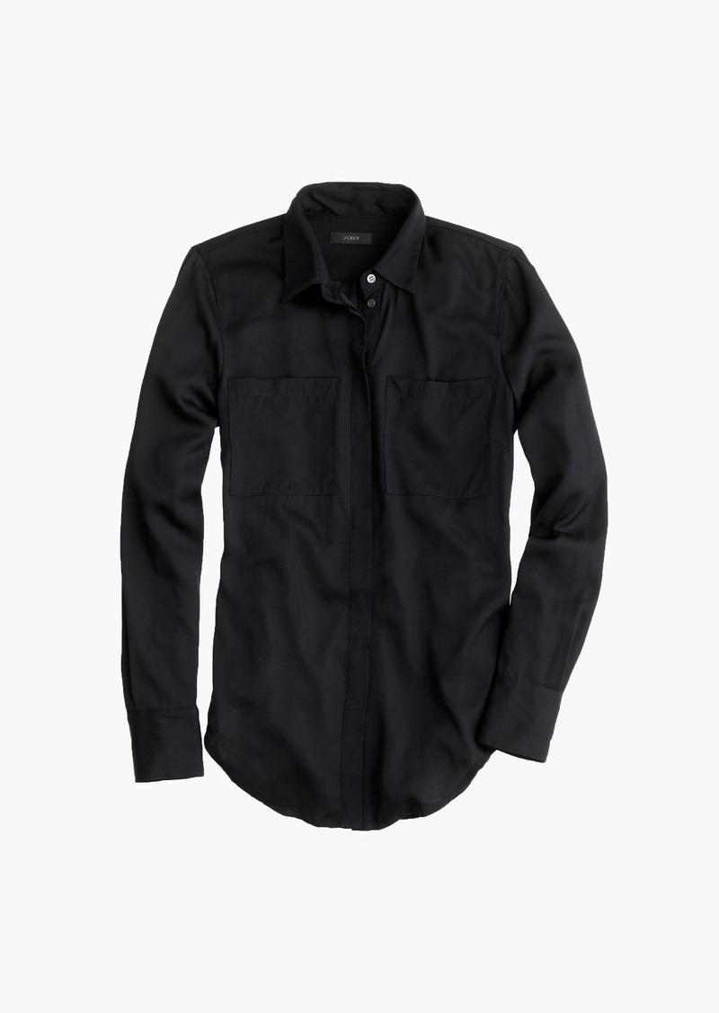 J.Crew Silk pocket blouse