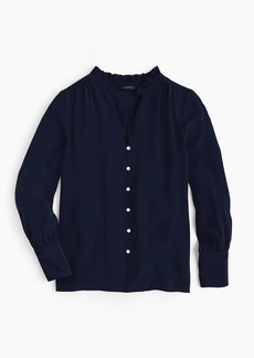 J.Crew Silk ruffle-neck blouse