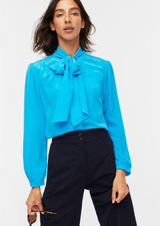 J.Crew Tie-neck blouse in Re-Imagined Silk