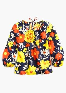 Silk top invintage floral