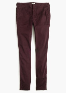J.Crew Skinny stretch cargo pant with zippers