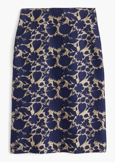 Skirt in floral jacquard