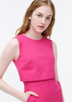 J.Crew Sleeveless going-places dress in bi-stretch cotton