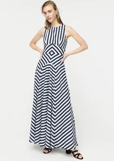 J.Crew Sleeveless high-neck dress in geometric stripe