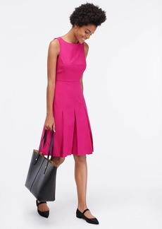 J.Crew Sleeveless pleated A-line dress in two-way stretch wool