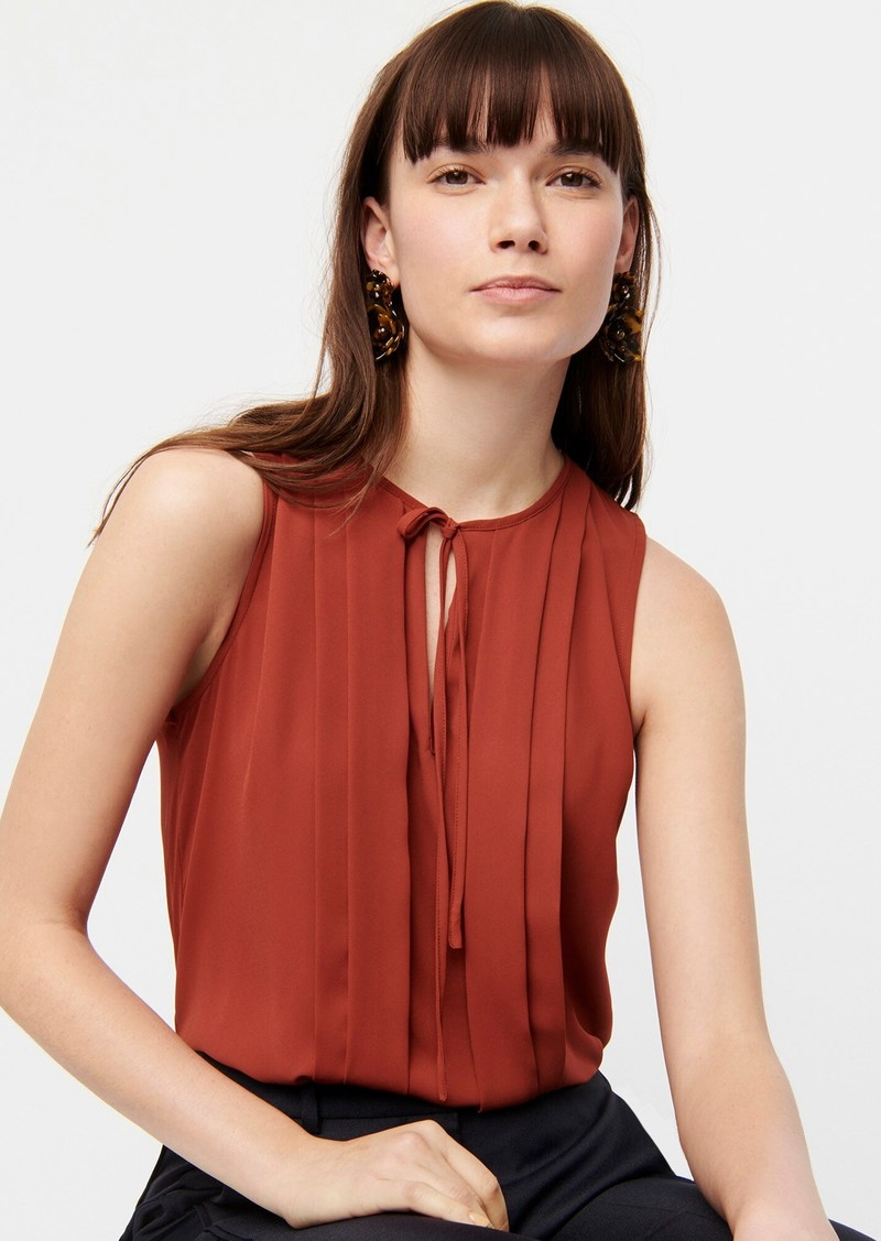 J.Crew Sleeveless pleated blouse