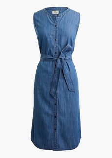 J.Crew Sleeveless shirtdress in chambray