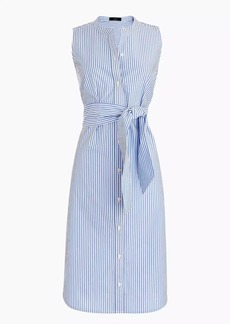 J.Crew Sleeveless shirtdress in striped cotton poplin