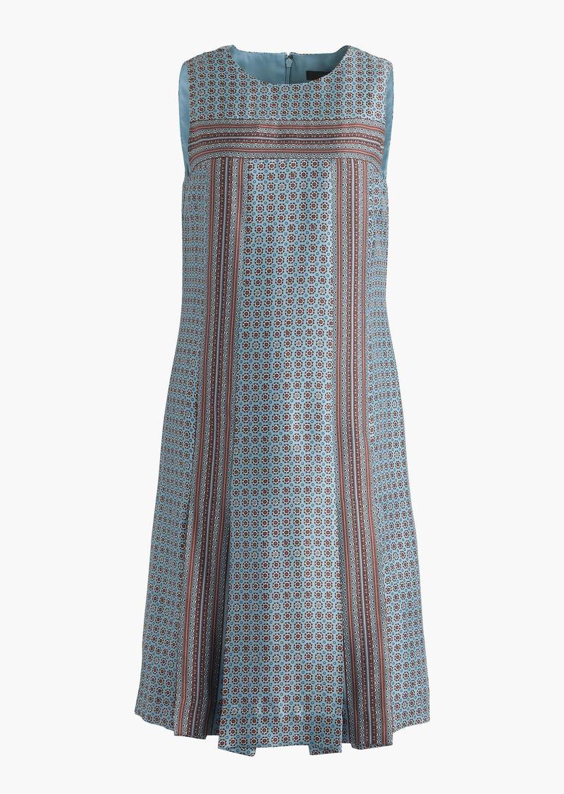 J.Crew Sleeveless silk twill dress in foulard print