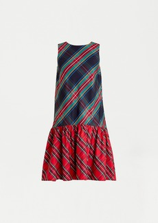 J.Crew Sleeveless taffeta dress in mixed Stewart tartan