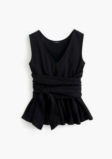 J.Crew Sleeveless tie-waist peplum top