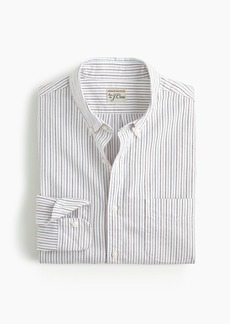 J.Crew Slim American Pima cotton oxford shirt with mechanical stretch in multistripe