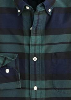 J.Crew Slim American Pima cotton oxford shirt with mechanical stretch in plaid